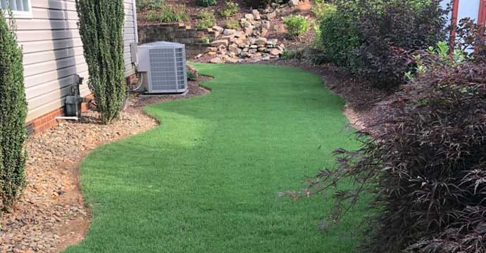 Overseeding Service on lawn in Fort Mill, SC